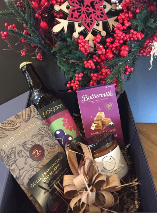 Medium Christmas Hamper With Polgoon Berry Cider